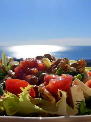 Lunchtime at Asrham Villa Sunshine beside the Mediterranean